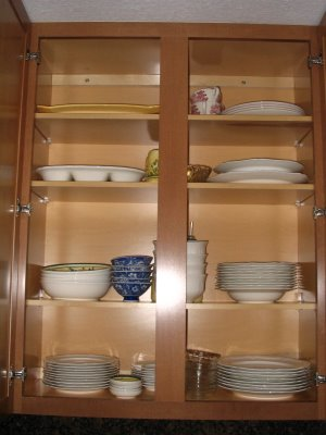 I actually have cabinet space.  There is a nice organized spot for everything.  I can actually use all of my dishes, pots/pans, utensils and appliances without having to dig for them.  I actually know what I have now.